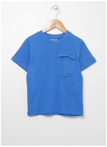 Limon Company Limon Erkek Çocuk Lacivert Bisiklet Yaka T-Shirt Saks